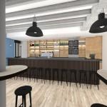 aménagement intérieur restaurant Guyancourt